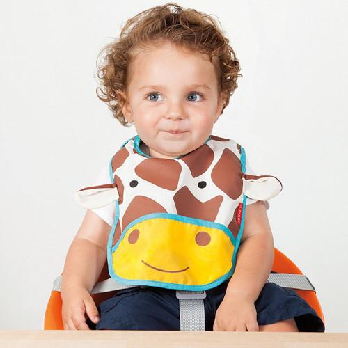 Skip Hop Tuck Away Bib - Giraffe - Baby Bibs