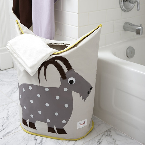 3 Sprouts Laundry Hamper Goat   Nursery Storage