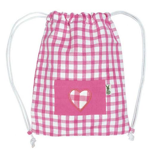 Win Green Swimming Bag - Pink Gingham