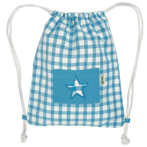 Win Green Swimming Bag - Blue Gingham