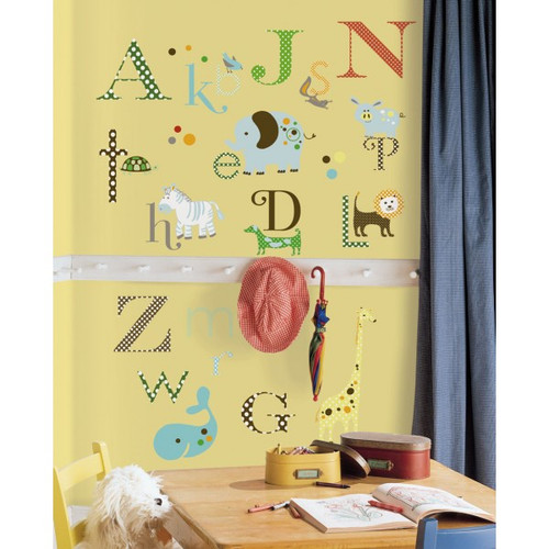 Alphabet Wall Stickers - Roommates - Kids Wall Stickers