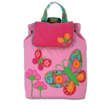 Stephen Joseph Signature Quilted Pink Butterfly Backpack