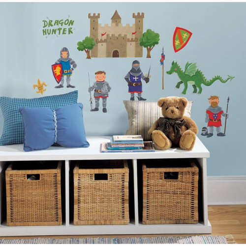 Knights and Dragons Wall Stickers - Roommates - Childrens Wall Stickers