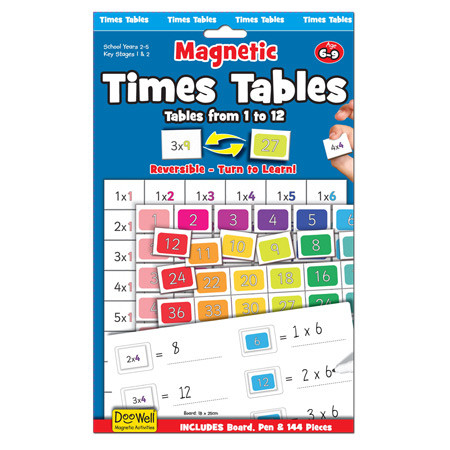 Magnetic Times Tables - Fiesta Crafts