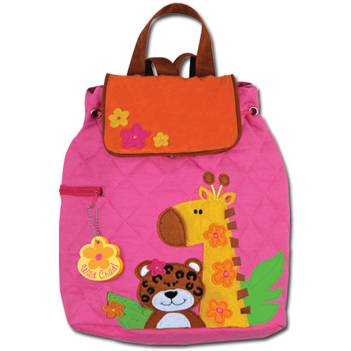 Stephen Joseph Quilted Pink Zoo Backpack - Kids Backpacks
