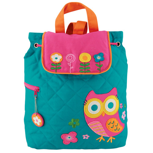 Stephen Joseph Quilted Teal Owl Backpack - Toddler Backpacks