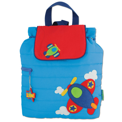 Stephen Joseph Quilted Aeroplane Backpack - Kids Backpacks