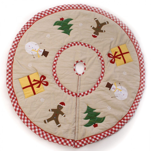 Win Green Christmas Tree Skirt