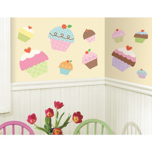 Giant Cupcake Wall Stickers - Roommates - Kids Wall Stickers