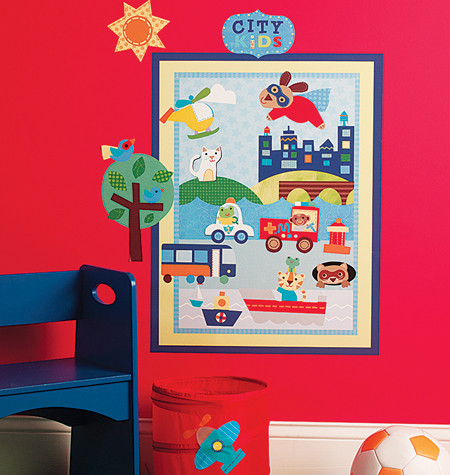 Image 1. Image 1. About Town Wall Stickers - Wallies ... & About Town Wall Stickers - Wallies Wall Play