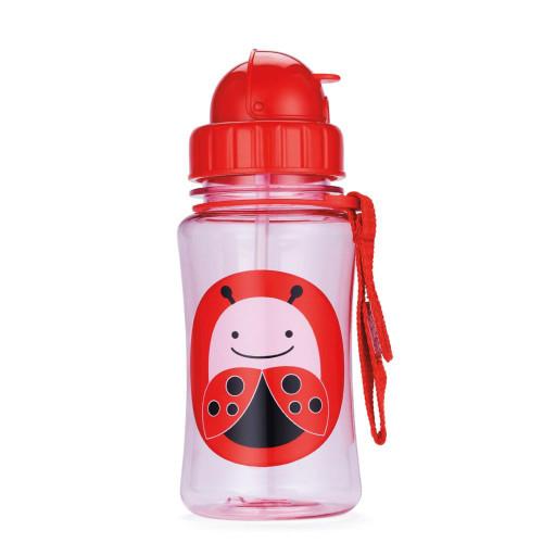 Skip Hop Straw Bottle Ladybird - Childrens Water Bottle