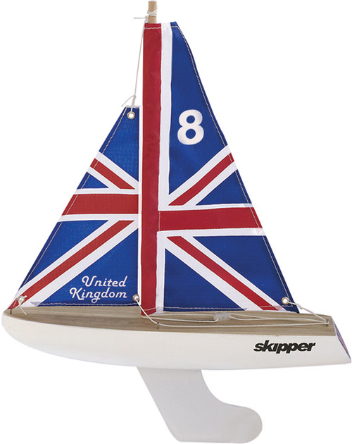 Skipper Pond Yacht - UK Flag - 8 Inch