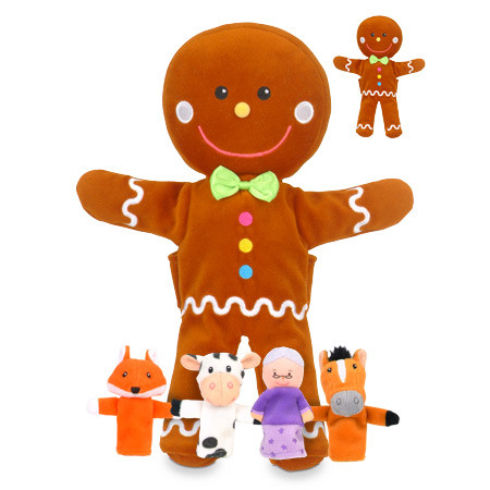 Fiesta Crafts gingerbread man hand puppet and 4 finger puppets