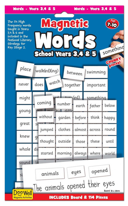 Fiesta Crafts Magnetic Words, Years 3, 4 and 5 Front