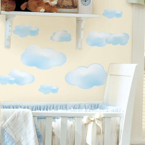 Roommates Blue Clouds Wall Stickers on Wall