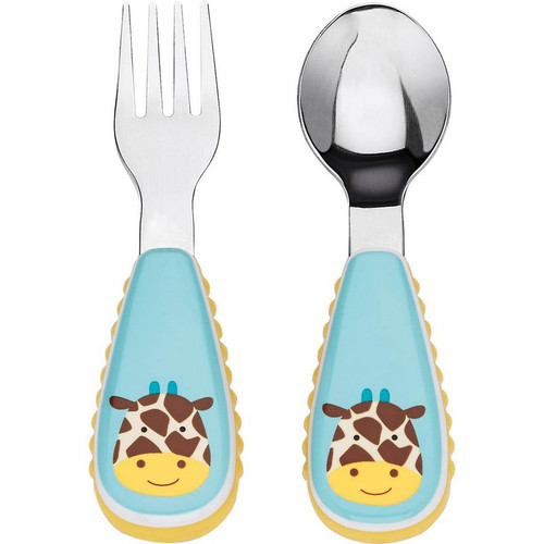 Giraffe Zootensils - Fork and Spoon Set
