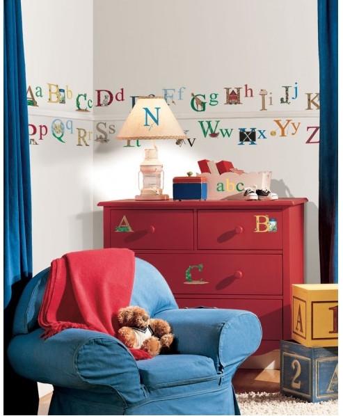 animal alphabet wall stickers roommates