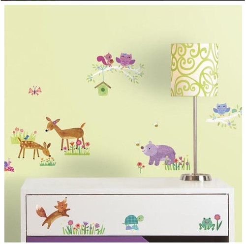 Roommates Baby Deer and Friends Wall Stickers on wall