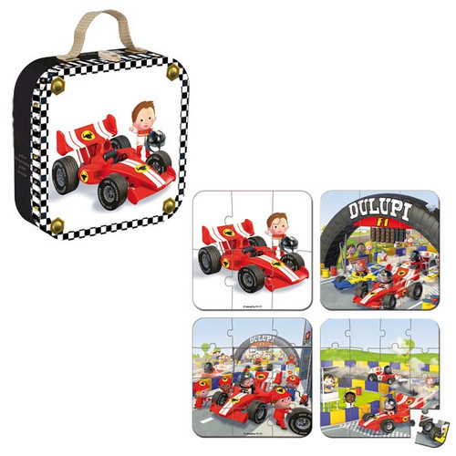 Gabin's Formula 1 Car Puzzle - Box with puzzles