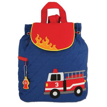 Stephen Joseph Fire Engine Quilted Backpack