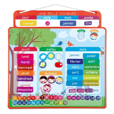Janod Magnetic Calendar - French