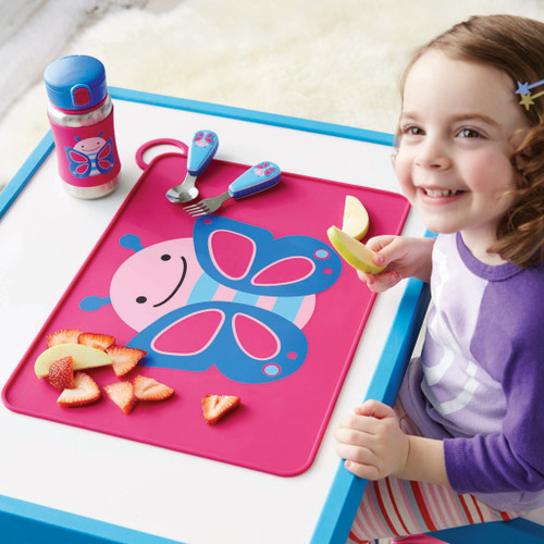 Child with Skip Hop Zoo Placemat - Butterfly