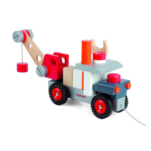 Janod truck with magnetic crane