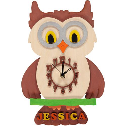 Owl Pendulum Clock - Personalised