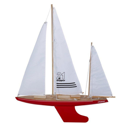 Skipper Bluewater 21 inch Pond Yacht with red hull