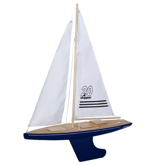 Skipper Offshore 20 inch Pond Yacht with blue hull
