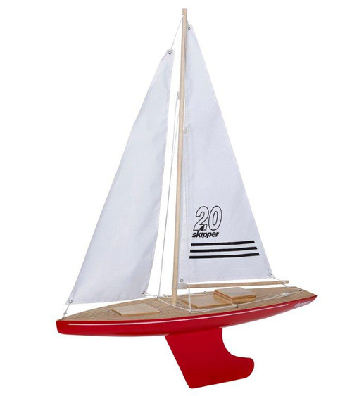 Skipper Offshore 20 inch Pond Yacht with red hull