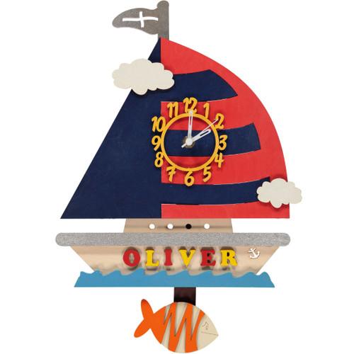 Yacht Pendulum Clock - Personalised