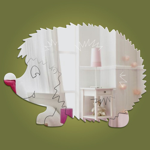 Hedgehog acrylic mirror - exclusive to Dotty Hippo