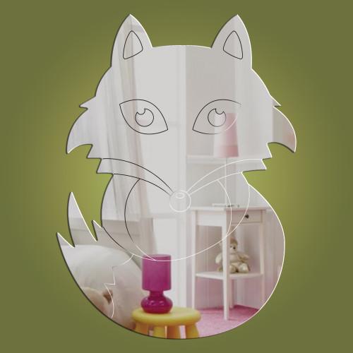 Fox acrylic mirror - exclusive to Dotty Hippo