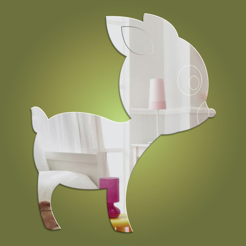 Deer acrylic mirror - exclusive to Dotty Hippo
