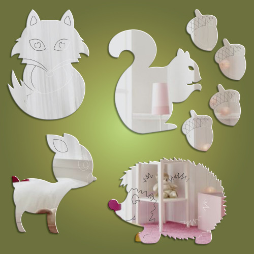 Woodland Animals Mirrors Bundle - Available only on Dotty Hippo