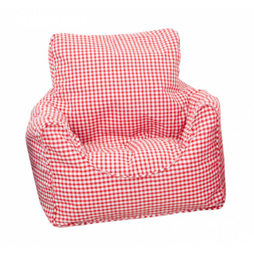 Babyface Red Gingham Beanbag Chair - Childrens Bedding