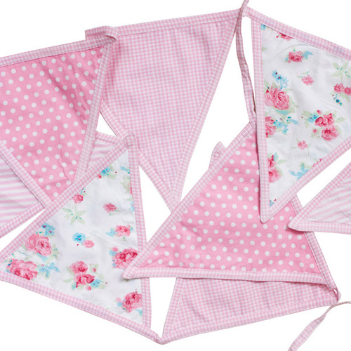 Pink Bunting - Childrens Bedroom