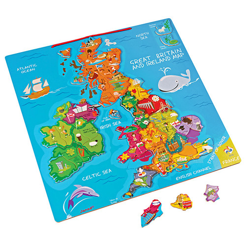 Janod Great Britain and Ireland Magnetic Map