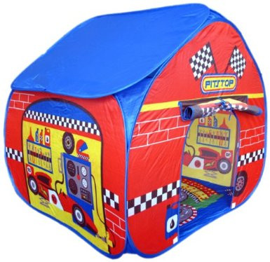 Pop It Up Pitstop Play Tent with Race Track Play Floor