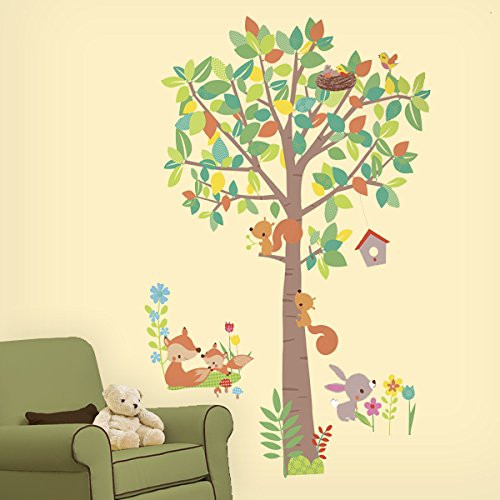 Giant Tree and Woodland Animals Wall Stickers
