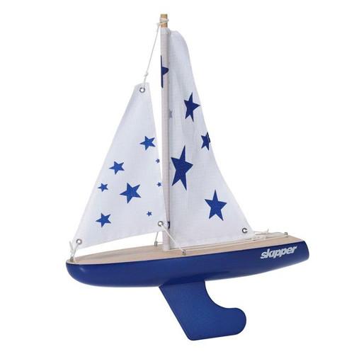 Skipper Pond Yacht - Blue Stars - 10 Inch