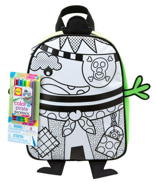 Colour a Pirate Backpack
