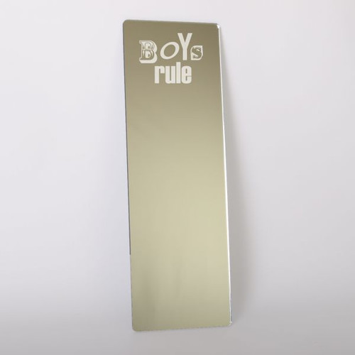 Childrens Mirrors - Boys Rule Dressing Up Mirror