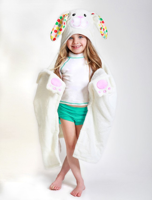Zoocchini Hooded Towel - Bella the Bunny