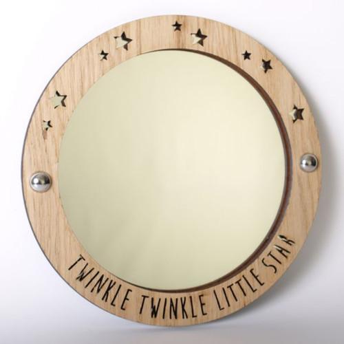 Twinkle Twinkle Little Star - wood framed acrylic mirror