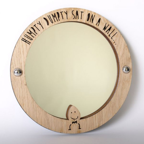 Humpty Dumpty - wood framed acrylic mirror