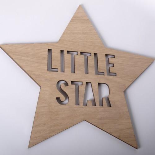 Little Star wooden wall sign