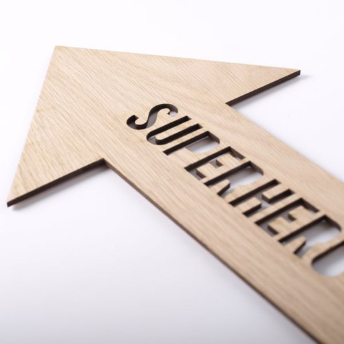 Superhero wooden wall sign