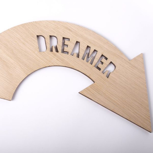 Dreamer wooden wall sign